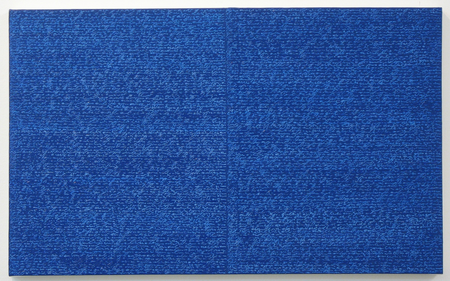 Open Book -blue- blue-<br>oil and amber on canvas over panel, 37 x 60 cm, 2008