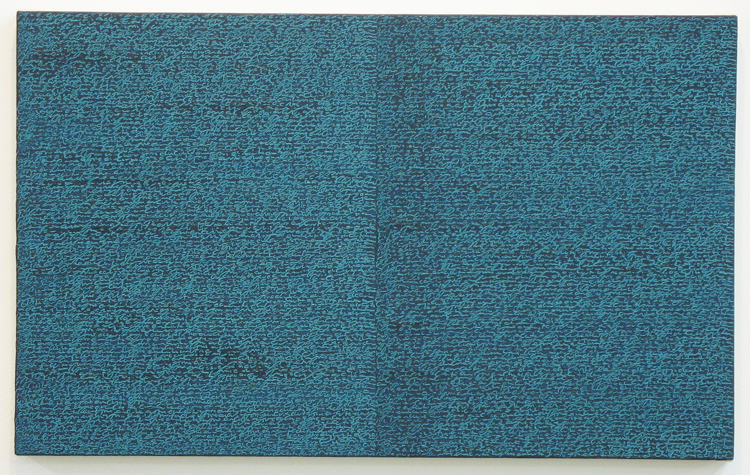 Open Book -green-green-<br>oil and amber on canvas over panel, 37 x 60 cm, 2008