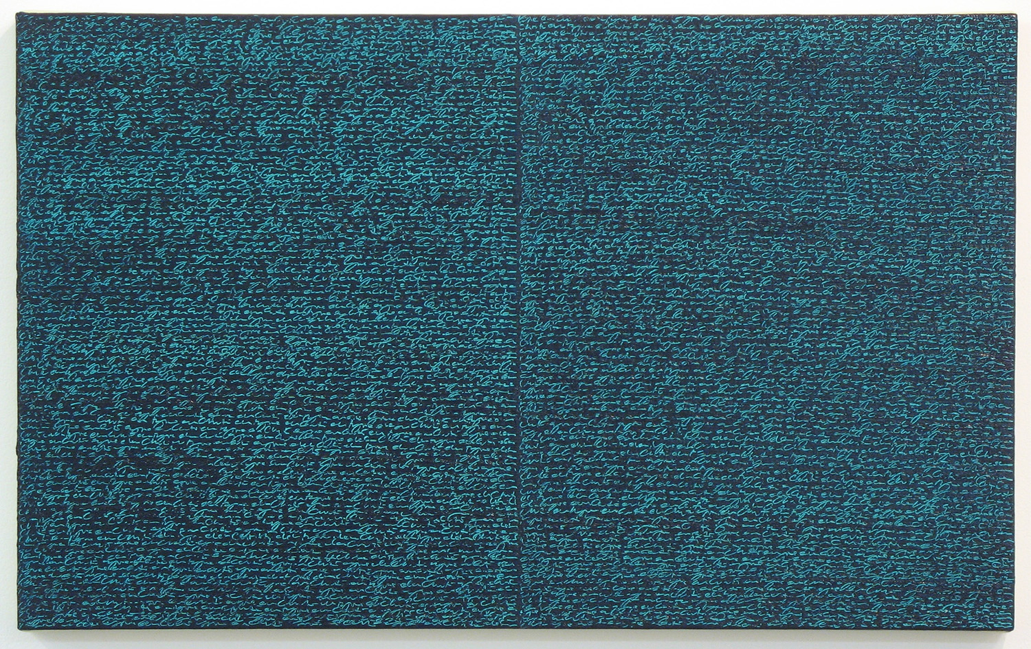 Open Book -green-green dark-<br>oil and amber on canvas over panel, 37 x 60 cm, 2008
