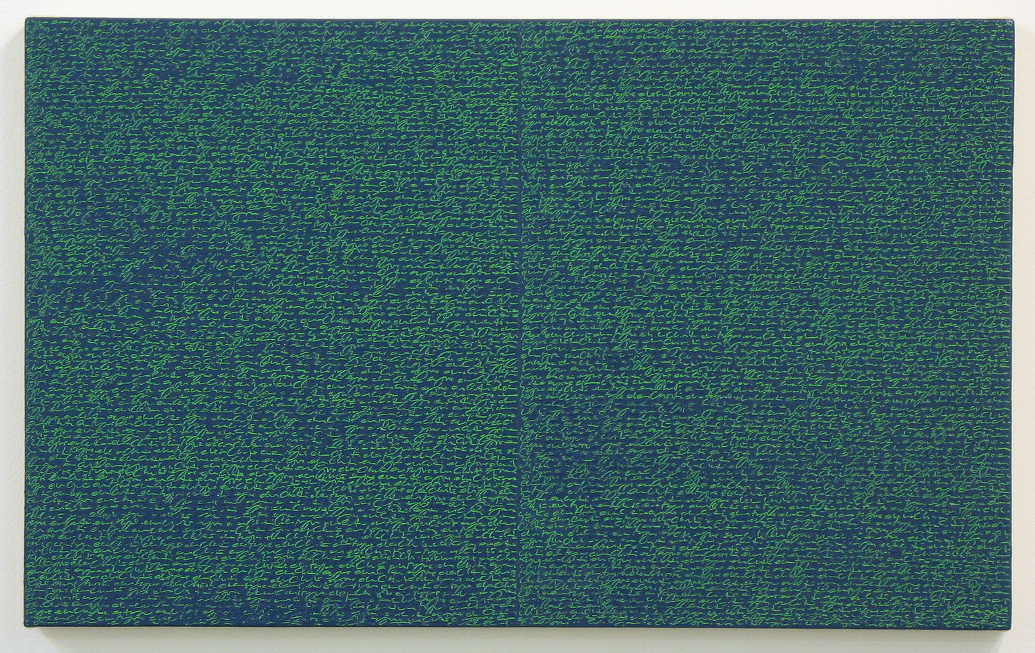 Open Book -green-green light-<br>oil and amber on canvas over panel, 37 x 60 cm, 2008