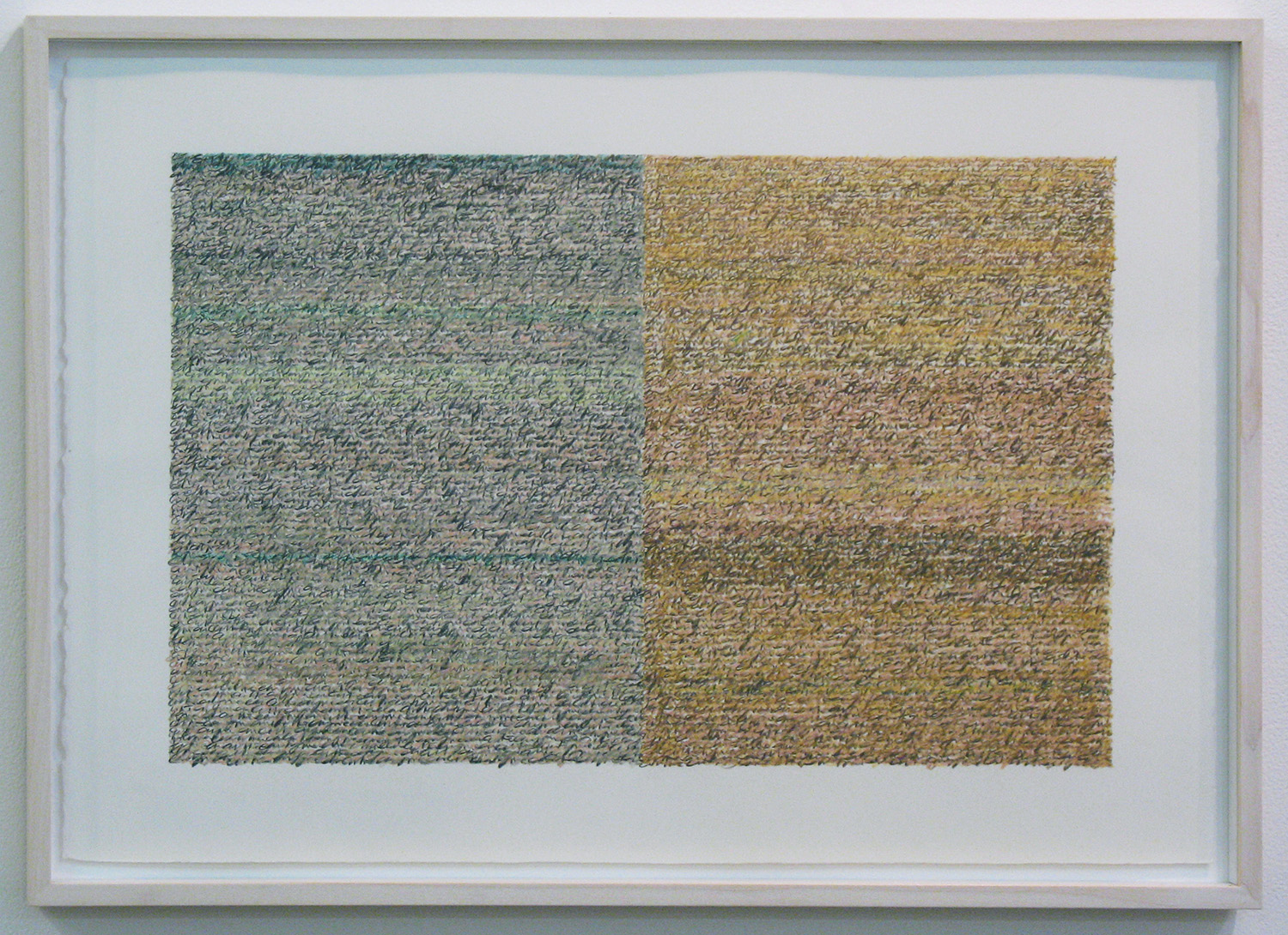 Silent Sound 3 <br>pigment pencil on paper, 38.5 x 56.5 cm (paper size), 2008