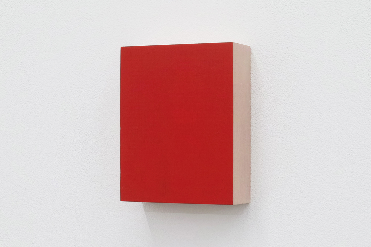 Text No. 439<br>pigment, acrylic on wood ,  97 x 77 x 27 mm,  2003