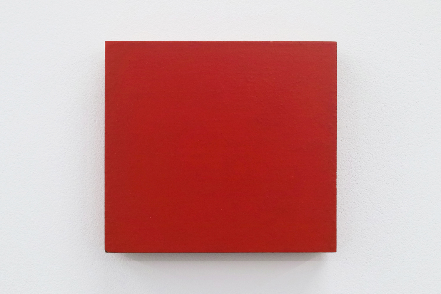 Text No. 445<br>pigment, acrylic on plywood,  92 x 100 x 20 mm,  2004