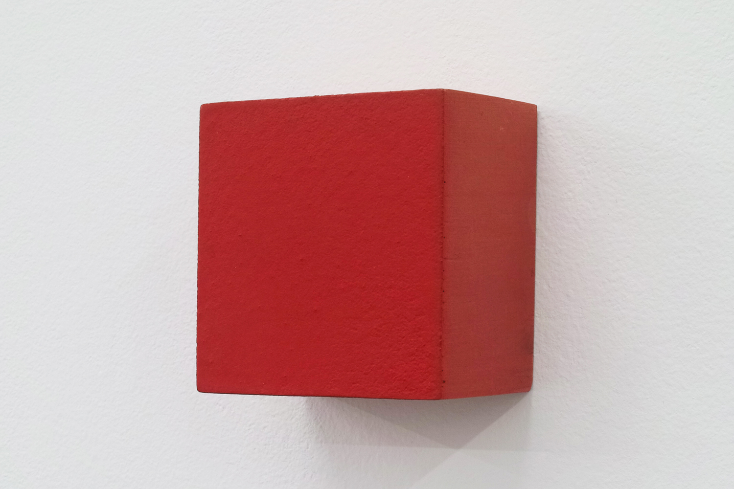 Text No. 544<br>pigment, acrylic on wood,  52 x 50 x 37 mm,  2005