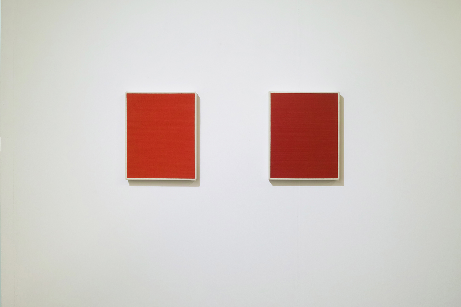Text No. 479 & Text No. 480<br>oil, pigment on cotton,  278 x 220 x 33 mm,  2004 each