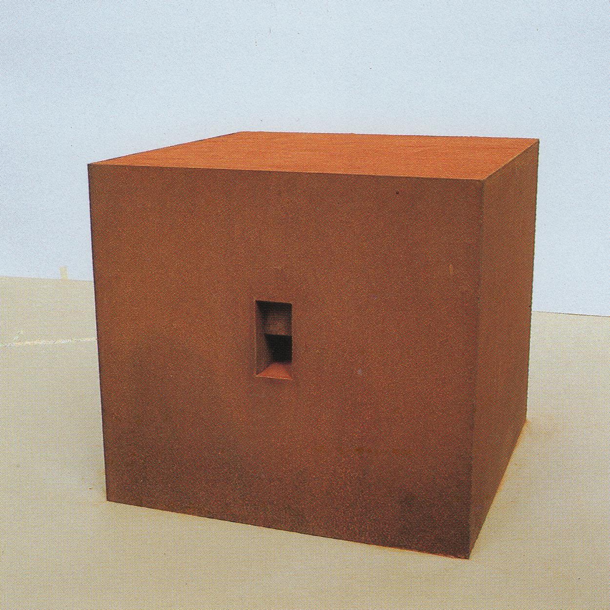 Dark Room|iron and red sand|42 x 46 x 46 cm|1992