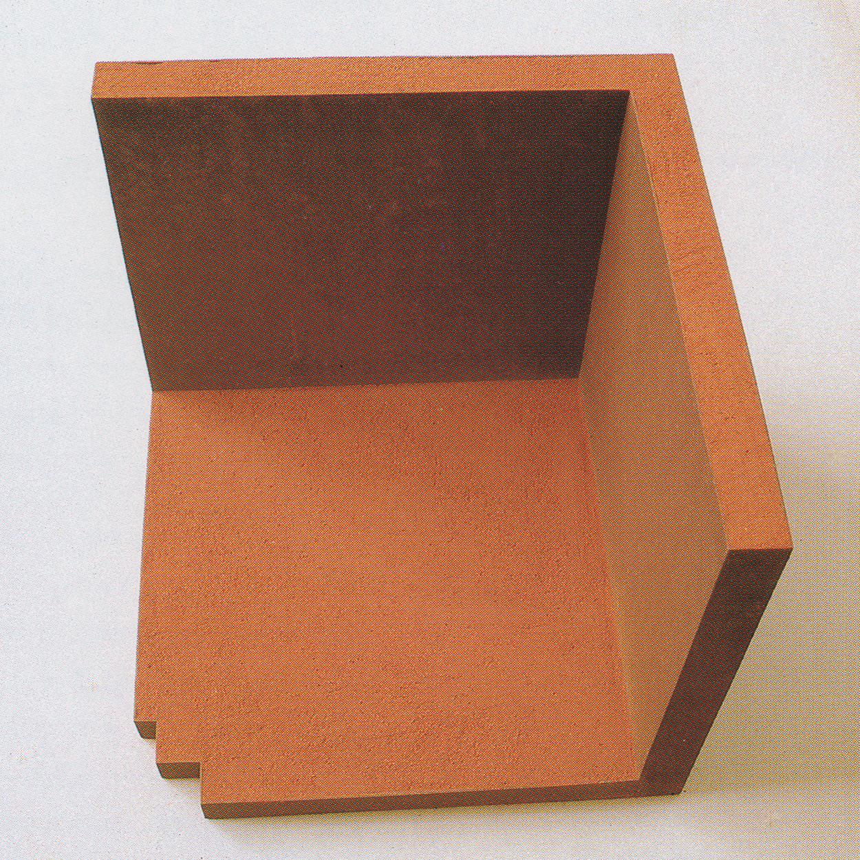 Half|iron and red sand|49 x 45 x 45 cm|1992