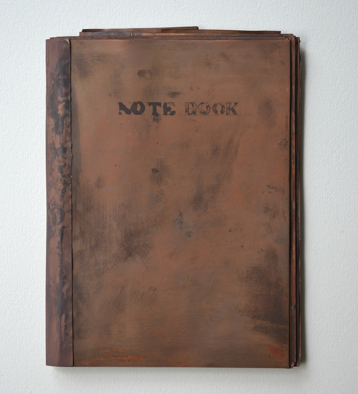 note book #21|copper|172 x 130 x 10 mm|2011
