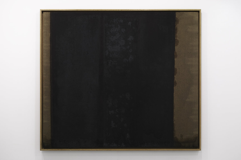 <b>UMBER-BLUE 1986-87</b><br>Oil on Canvas<br>141.0 x 160.5 cm<br>Coll: Tokyo Opera City Art Gallery