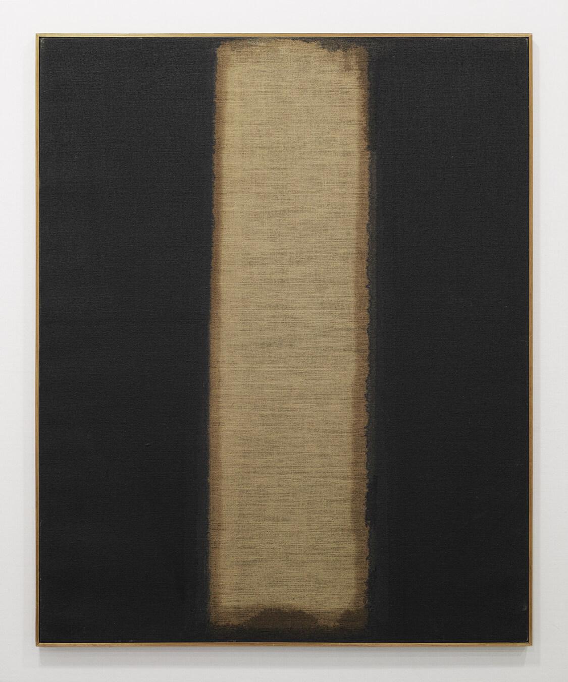 <b>UMBER-BLUE 1977</b><br>Oil on Canvas<br>100.0 x 80.3 cm<br>Coll: Tokyo Opera City Art Gallery