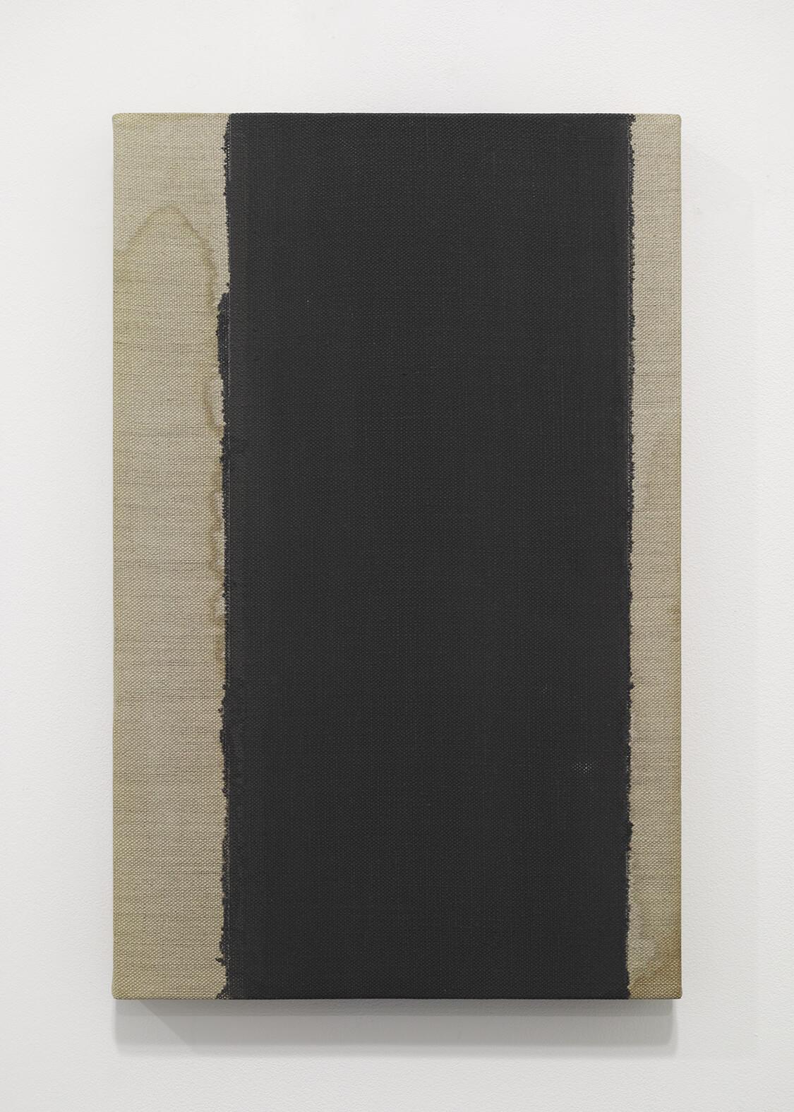<b>UMBER-BLUE 1986-87</b><br>Oil on Canvas<br>40.8 x 31.6 cm